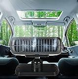 GEARS PANDA Calentador de calefacción del coche del ventilador portable 2 en 1 secador del parabrisas del descongelador del desempañador de enfriamiento caliente 12V 150W auto