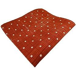 TigerTie diseñador Pañuelo de seda en rojo gris lunares - pañuelo 100% de seda