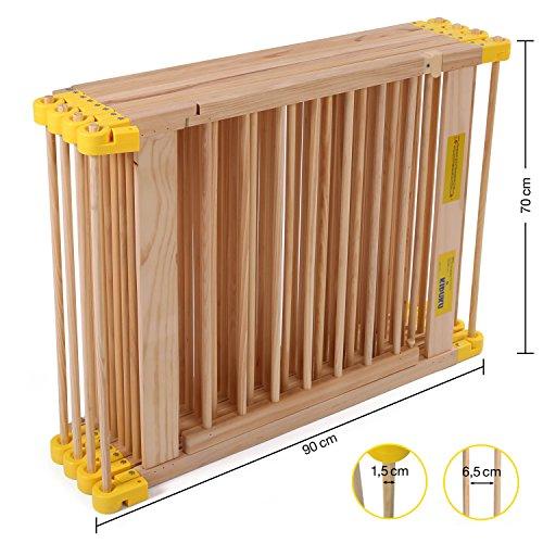 KIDUKU® 7,2 Meter Laufgitter XXL klappbar inkl. Tür, bestehend aus 8 Elementen, individuell formbar Laufstall Absperrgitter - 2