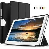 IVSO Acer Iconia One 10 (B3-A40) Hülle, Ultra Schlank Ständer Slim Leder zubehör Schutzhülle perfekt geeignet für Acer Iconia One 10 (B3-A40) 2017 Tablet PC, Schwarz