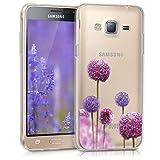 kwmobile Samsung Galaxy J3 (2016) DUOS Hülle - Handyhülle für Samsung Galaxy J3 (2016) DUOS - Handy Case in Pink Violett Transparent