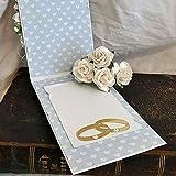 Ruby569y - Fustelle in metallo, per realizzare anelli di nozze, fai da te, scrapbooking, biglietti, decorazioni fotografiche, argento