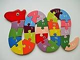 lakshya Wooden Snake Shaped 26 Letter Alphabet Learning Block Puzzle for Nursery Kids (A-Z) (Snake)