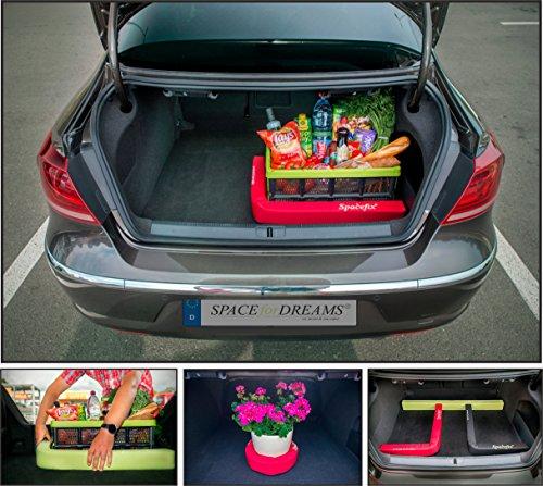 Preisvergleich Produktbild Gepäckfixierung SPACEFIX® (Rot) - Original, praktisch, Befestigungselement in den Kofferraum Ihres Autos. Große 8 x 6 x 100cm. Perfektes Geschenk für Sie und ihn! Mit starkem Klettverschluss, auf Nadelfilz Teppichboden im Kofferraum klebt und ihr Gepäck im Kofferraum fixiert. Was wurde über SPACEFIX® gesagt: https://youtu.be/0Ii_CPfjE1ct=6m17s