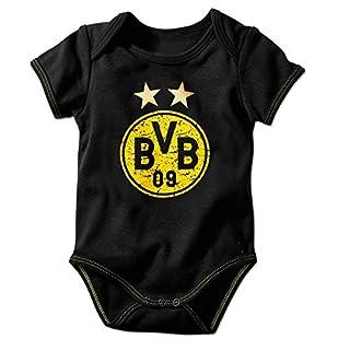 BVB - Babybody schwarz mit Logo gelb Gr. 62/68 Borussia Dortmund