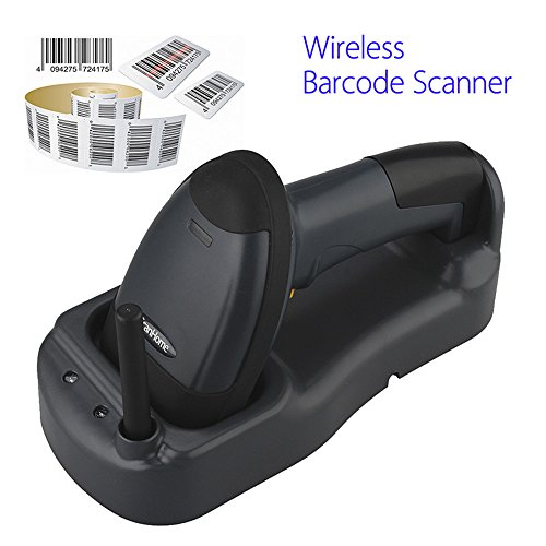 SH-3000 433Mhz Escáner de código de barras láser inalámbrico Portátil USB Lector de código Escaneo largo con Cargador de base