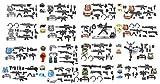 Magma Brick:- Moderne Kommando-Reihe - Spezialwaffenrüstung Mit dem Helm, die Waffe, dem taktischen Gürtel für alle Schlachtfeld Es gibt 145 Stücke, die für LEGOs Mini-Figuren anfertigen.