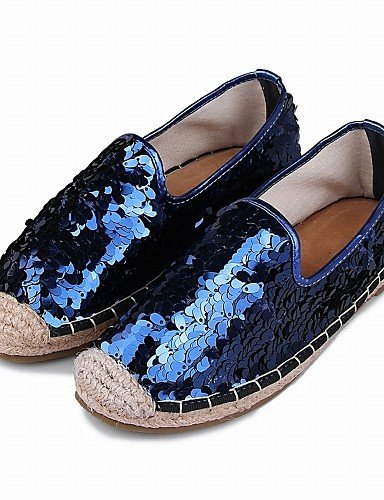 Uk4 Azul Ssig Calçados Baixos L Quadrado Do 5 Femininos Cn37 Couro Eu37 5 Sapatos Apartamento Bailarinas Pé De Vestido Blue us6 black 7 Confortável B¨¹ro Zq Dedo Imitação 5 Calcanhar pxRPwR