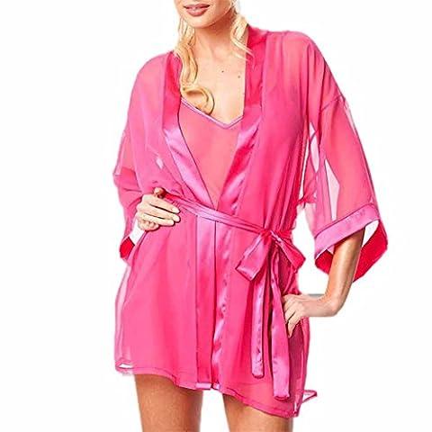 Vovotrade®Bequeme Spitze Verlockende Unterwäsche für Frauen im Bett-Raum (Size:S, Hot Pink)
