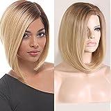 Blonde Perücke kurze Haare glattes Haar | Kleidung Party und Alltagskleidung | Echt Berühmtheit Perücke Mode kurze Haare , 0