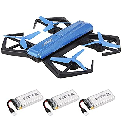 Goolsky JJR/C H43WH CRAB WIFI FPV 720P HD Camera Quadcopter Foldable G-sensor Mini RC Selfie Drone Two Extra Battery from Goolsky