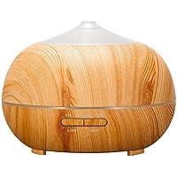 Tenswall - Difusor de 400ml para aceites esenciales de aromaterapia. Fabricado en madera y con luces LED. Ideal para el hogar, las clases de yoga, la oficina, el spa, el dormitorio, etc.