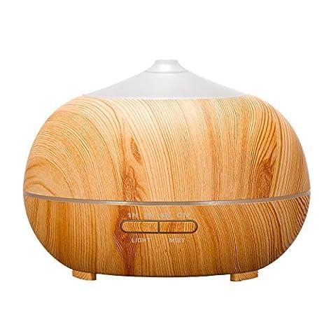tenswall 400ml Luftbefeuchter Ultraschall Diffuser Aromatherapie Luftbefeuchter Ätherische Öle Luftbefeuchter Holzmaserung Duftspender für ätherische Öle (Sfera Di Musica)