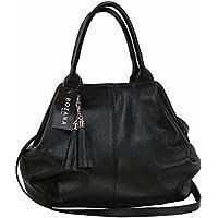 661e202415e93 BZNA Bag Bozana Bag Rita black nero Italy Designer Leder Shopper  Ledertasche Tasche Damen Handtasche