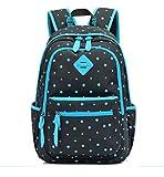 Frische Dot Printing Segeltuch-Rucksack Schultasche für Teenager Mädchen