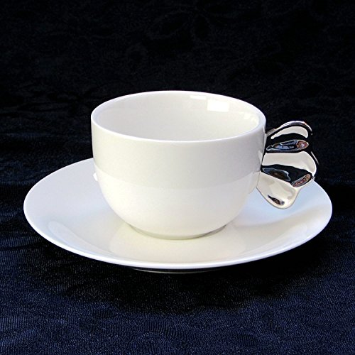 HONGYUANZHANG Kaffee Tasse Keramik Tasse Kaffeetasse Grüner Kaffee Tasse (150 Ml) Silber