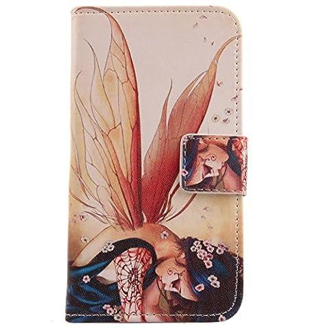 Lankashi PU Flip Leder Tasche Hülle Case Cover Schutz Handy
