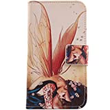 "Lankashi PU Flip Funda De Carcasa Cuero Case Cover Piel Para Uhappy UP580 6.0"" Wings Girl Design"