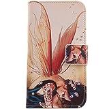 """Lankashi PU Flip Funda De Carcasa Cuero Case Cover Piel Para Vkworld Vk700 Pro 5.5"""" Wings Girl Design"""