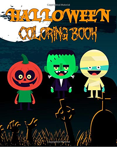 Halloween Coloring Book: 31 Illustrations For Your Child To Color, With A Spooky Fact On Each Page!