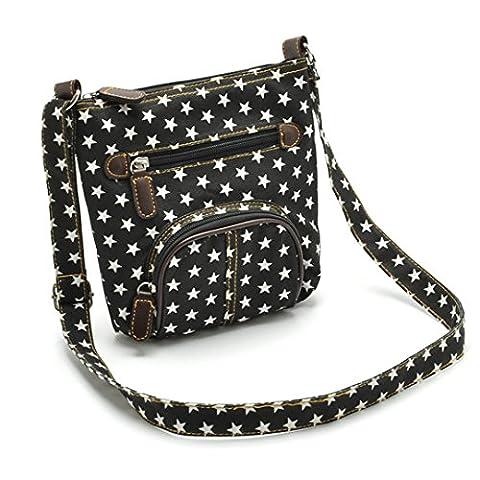 LA HAUTE Women Girls Simplicity Crossbody Bag with Front Pockets