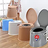 Denny International 【LIGHT WEIGHT Large 6L Compact Portable Toilet Potty Loo with Washable Basket and Toilet Roll Holder for Pool Party Camping Caravan Picnic & Festivals 3