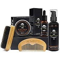 KILLYSUFUY Beard Care Gift Kit para hombres 5 piezas Beard Grooming Kit- barba Shampoo