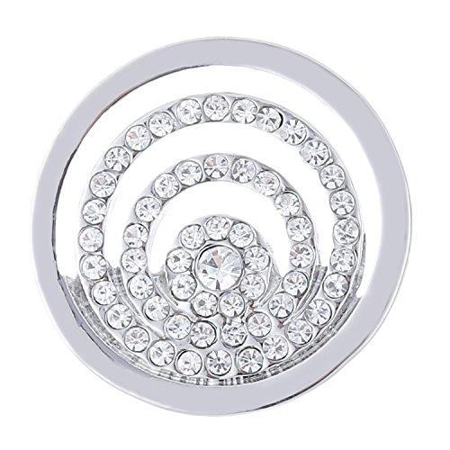 Morella Damen SMALL Coin 23 mm Strassringe silber