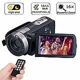Digitaler Camcorder mit IR Nachtsicht, IBACAKYS Portable Mini Handheld Videokamera 24,0 Megapixel DV 18X Digitalzoom Nachtsicht Full HD 1080P(zwei Batterien)