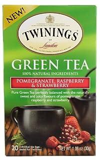TWINING TEA TEA GRN PMGRNT PSPBRY STR, 20 BG