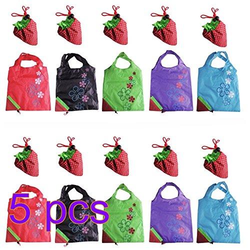 NO:1 5 Stück Faltbare Schöne Erdbeere Wiederverwendbare Einkaufstaschen Wiederverwertung Taschen -