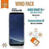 Samsung Galaxy S8, 64 GB, Midnight Black (Anticipo) + SIM Wind Ricaricabile con offerta Wind Smart 10 + Wind Pack