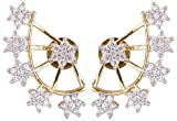 Shining Diva Golden 18K Ad Star Ear Cuffs Earrings For Girls (2 Pc)(Golden)(7626ernpzz)