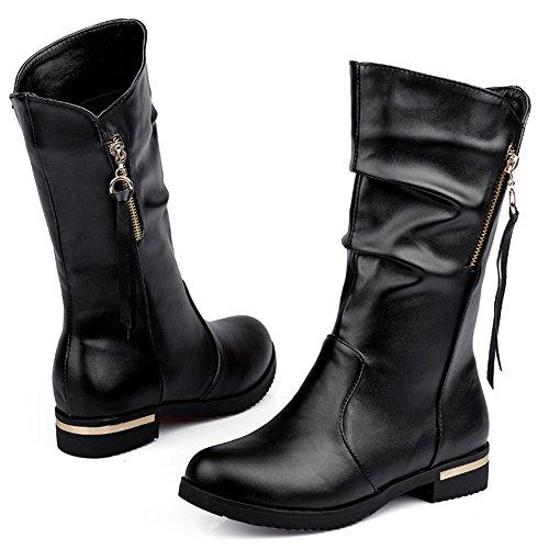Donna Taoffen Taoffen Taoffen Nero Nero Donna Donna Stivali Indossando Indossando Stivali Stivali Nero Indossando FASxqwnBFP