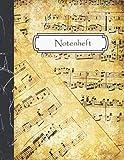 Notenheft: Notenbuch für Musiker - Blanko Notenblock - 12 Notensysteme pro Seite - Großes Format - 108 Seiten