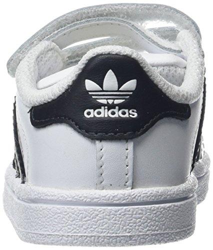 designer fashion e3162 601c3 adidas Superstar CF, Scarpe da Fitness Unisex-Bambini, Bianco  (FtwblaNegbas 000), 24 EU