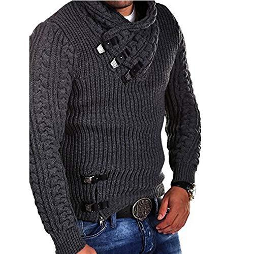 Pullover Sweater Sweatshirt, SUNNSEAN Bluse Männer Winter Langarm Solide Strickpullover Tops Sport T-Shirt Langarmshirts Jumper