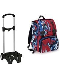 4e00d2179b Zaino scuola sdoppiabile Big + Easy TROLLEY - SEVEN - estensibile - Rosso  Blu - elementari