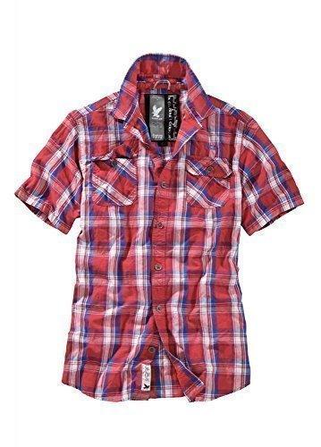 Surplus TrooperTM Camicia A Quadri mezza manica - rosso / blu, L