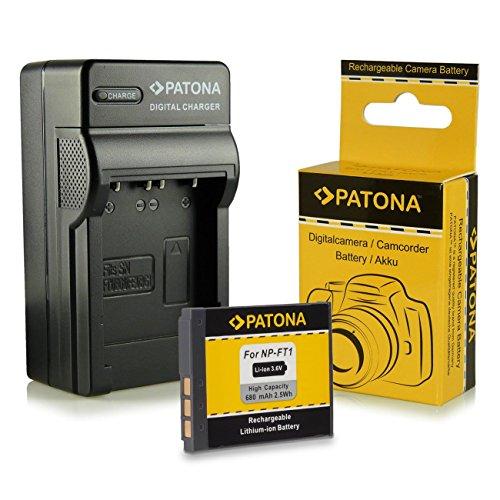 PATONA 3in1 Ladegerät + Akku NP-FT1 für Sony Cybershot DSC-L1 DSC-M1 DSC-M2 DSC-T5 DSC-T9 DSC-T10 DSC-T33 Dsc-t10 Sony Cyber-shot