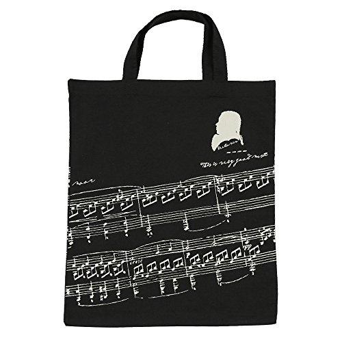 Bolsa de algodón para la compra de la marca Punk, para mujeres, con diseño de clave de sol o estampado de instrumentos musicales, de 36x 41cm