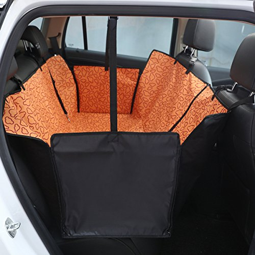 HONCENMAX Dog Car Seat Cover - Heavy Duty Dog Hammock With Side Flaps - Waterproof/Scratch Proof/Nonslip Padded Pet Seat Cover - Universal fits All Cars