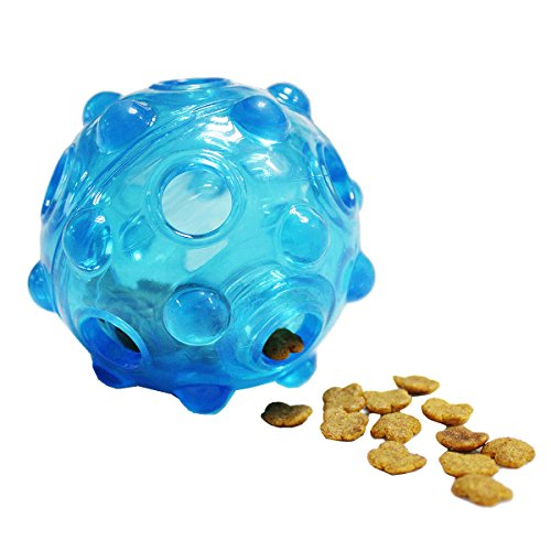 Ondoing Transportbox Pet Interaktives Spielzeug Hund Katze Lebensmittel Spender IQ Treat Ball ungiftigem Gummi Training Spielen Kauen (Hundefutter Automatische Dispenser)