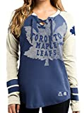 NHL T-Shirt Trikot Damen Women TORONTO MAPLE LEAFS HipCheck Eishockey Shirt (X-LARGE)
