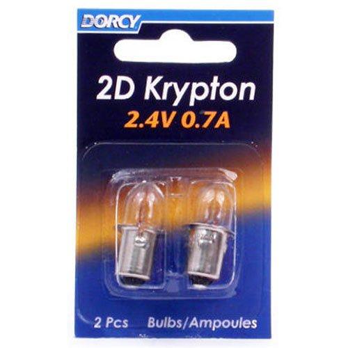 DORCY 2d-2.4-volt, 0,7A Bajonett Sockel Krypton Glühbirne, Ersatz 2er Pack (41–1660) (Bajonett-sockel)