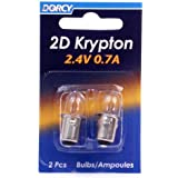 Dorcy 41-1660 2D - 2.4V 0.7A Bayonet Base Krypton Replacement Bulb, 2-Pack