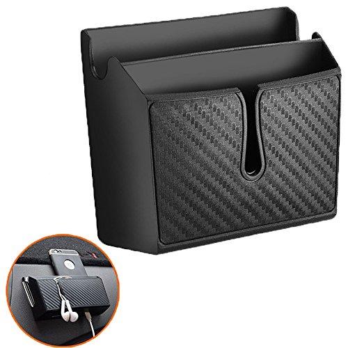 ZYTC Auto Organizer Tasche Doppelschicht Aufkleber Dashboard Handy Ladegerät Münzhalter Konsole Organizer Lagerung für Handys Kopfhörer Sonnenbrille Klein