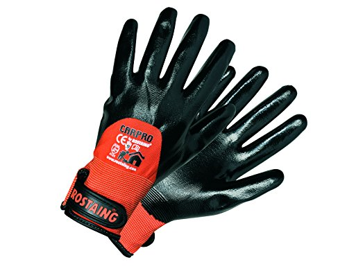 Rostaing CarPro/it08 guantes especial azulejos impermeable Palma y dedos, Naranja/Negro, 08