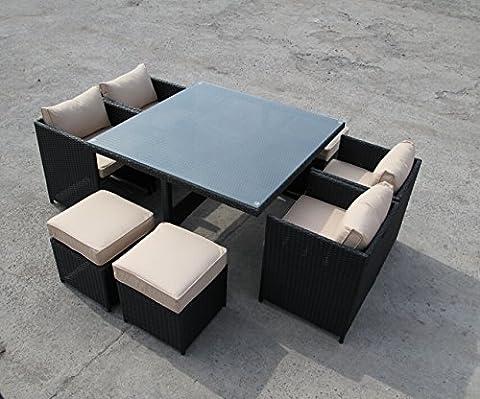 Rattan Garten Outdoor Cube Tisch und Stühle Gartenmöbel Gartenmöbel-Set