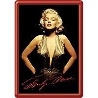 Nostalgic-Art 16607 Celebrities - Marilyn Gold Blechpostkarte, 10 x 14 cm